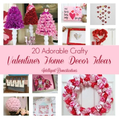20 DIY Valentine's Home Decor Ideas (Merry Monday #191)