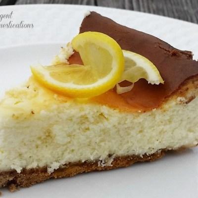 Homemade Lemon Cheesecake