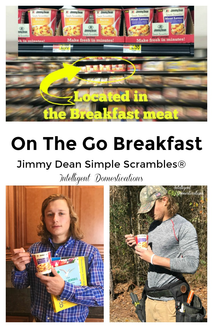 Jimmy Dean Simple Scrambles. Quick and easy protein rich breakfast on the go. #ad Jimmy Dean Simple Scrambles. Quick and easy breakfast on the go. Enjoy a two egg and meat breakfast without the frying pan! Jimmy Dean Simple Scrambles® for a breakfast on-the-go! @JimmyDean #SimpleScramblesAtWM #breakfast