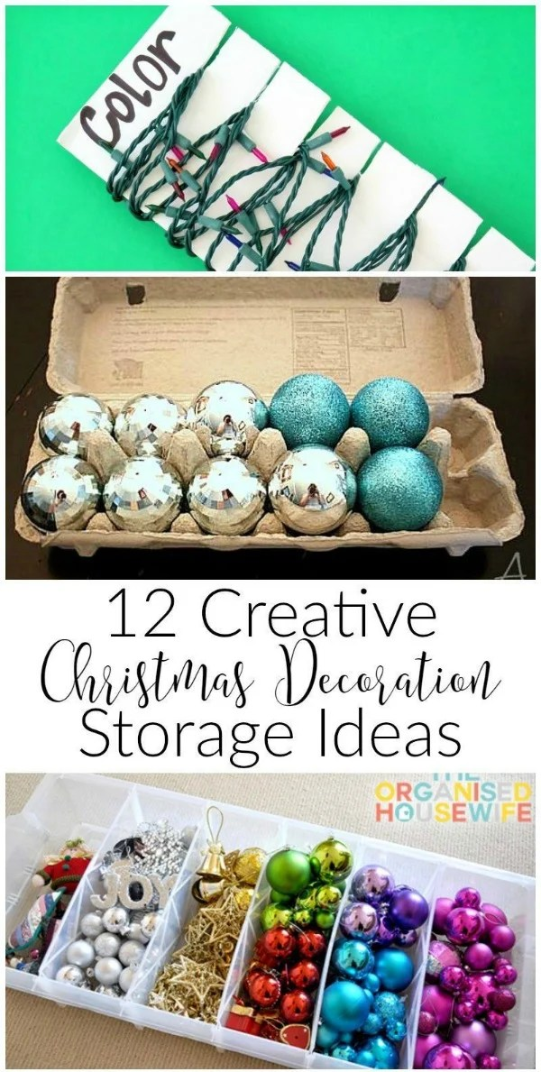 12 Creative Christmas Decoration Storage Ideas. Solutions for Christmas Decor Storage. How to organize Christmas ornaments