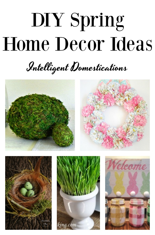 5 Frugal DIY Spring Home Decor Projects. Easy ways to dress up your home for spring. Spring DIY Projects. #springdecor