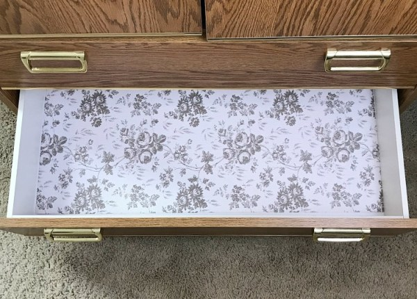 Add some pretty drawer liner paper to your sock drawer