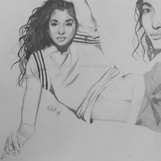 Stacy's pencil sketch of 1995