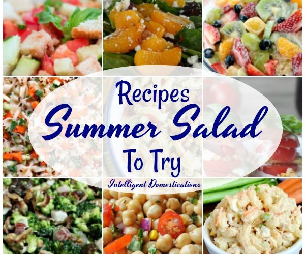 9 summer Salad Recipe Ideas to try. Salad recipes for summer. #saladrecipe #summersalad