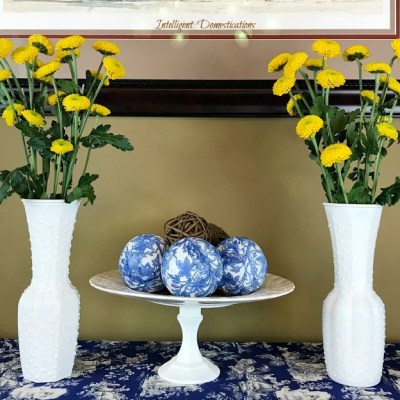 How To Make A Faux Hobnail Vase
