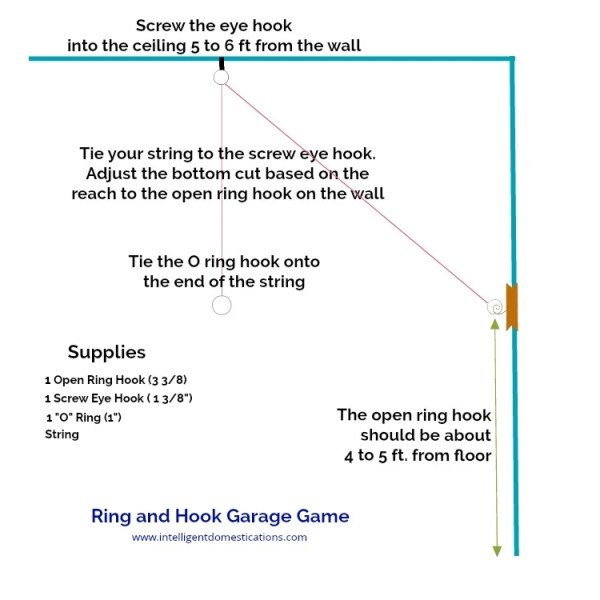 How to install the Ring and Hook Game in your garage.