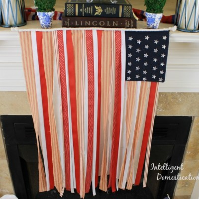 How To Make A No Sew Ribbon Flag