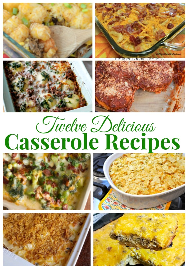 12 Delicious Casserole Recipes. Casserole recipes for every night of the week and then some! Lots of different flavors. #casserolerecipes #mealplanning