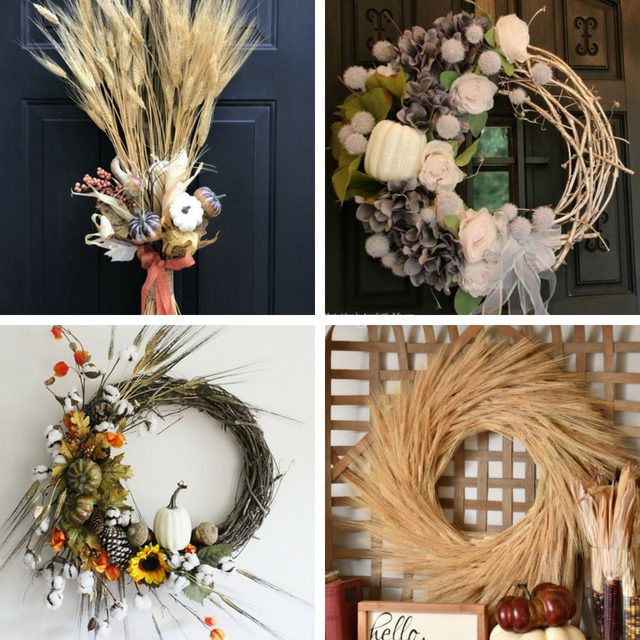 4 Fall wreaths