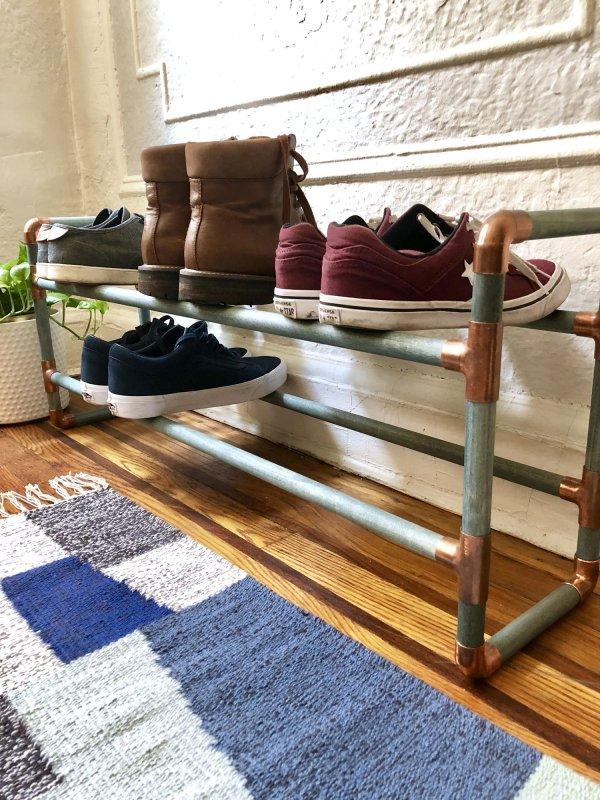 DIY Shoe Rack tutorial