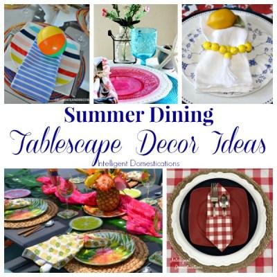 Summer Dining Table Decor Ideas (Merry Monday 216)