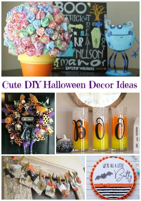 DIY Halloween decorations. Cute Halloween Decor Ideas. Not so spooky Halloween Decorations you can make. #halloween