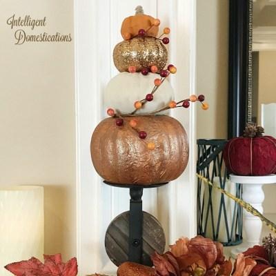 How To Make A Pumpkin Topiary