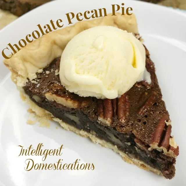 Easy Recipe for Chocolate Pecan Pie. No mixer needed because you stir this by hand. Only 6 ingredients