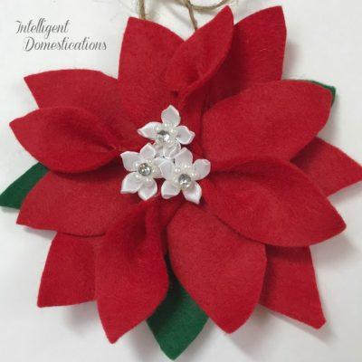 How To Make A Felt Poinsettia Christmas Ornament