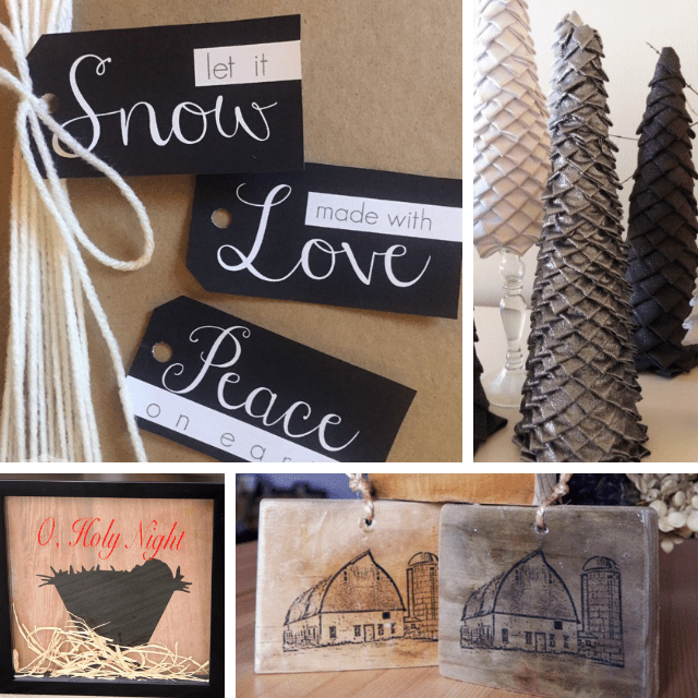 Black and Gray 50 Plus DIY Christmas Ideas