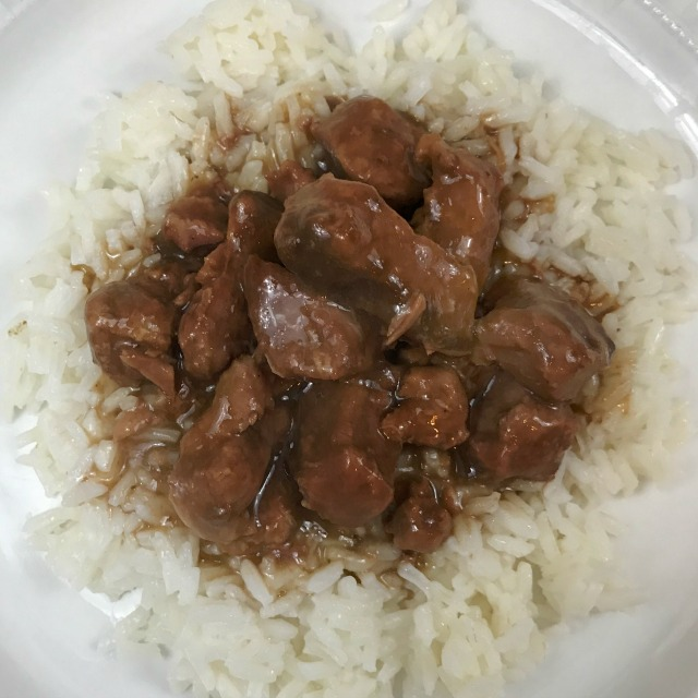 Crockpot Beef Tips and Rice easy recipe for a simple and delicious weeknight meal. Let the Slowcooker prepare supper while you work. #beeftips #Crockpotrecipe
