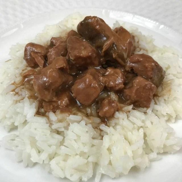 Crockpot Beef Tips & Gravy