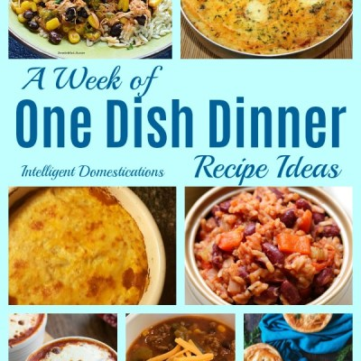 A Week of One Dish Dinner Ideas (Merry Monday 242)