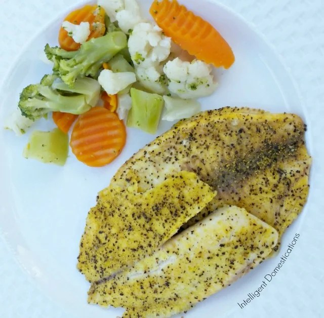 Fish for dinner is always good especially when it is low carb! Our recipe for Baked Lemon Pepper Tilapia is ready in about 20 minutes for a quick and easy weeknight meal. #lowcarb #baked fish