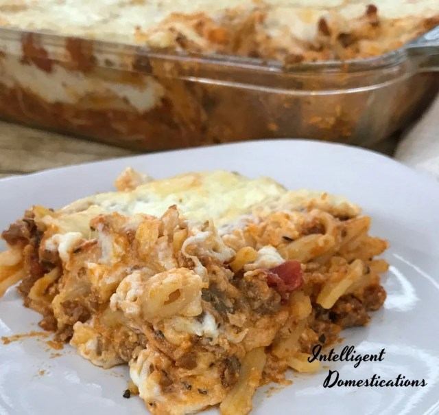 This Kid friendly weeknight meal is a delicious twist on a pasta casserole. We use ground sausage to create the flavor in this pasta casserole dish. Cheesy Sausage Pasta Casserole. #casserole #weeknightmeal