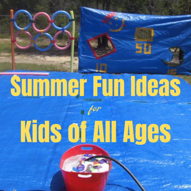 Summer Fun Activities. This one DIY Water Tarp Game will keep the kids busy with backyard summer water activities for hours! It's versatile for playing in the water. Play Water Balloon games, Water Bomb Target competitions. Pool Noodle Sword Fighting and a Slip and Slide surface and even use the Target Backdrop as a Photo spot! #watergames #summergames #outdoorplay