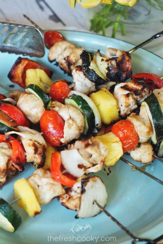 Summertime Shish Kebabs {Beef or Chicken Marinade}