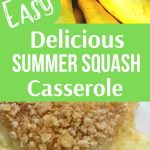 Easy recipe for making Squash Casserole with fresh Summer Yellow Squash. Cooking from scratch doesn't have to be hard and this recipe proves that. It's a must have side dish for Thanksgiving. Tender cooked squash, sour cream, cheddar cheese and buttery crushed cracker crust make this casserole delicious. #squashcasserole #SouthernSquashCasserole