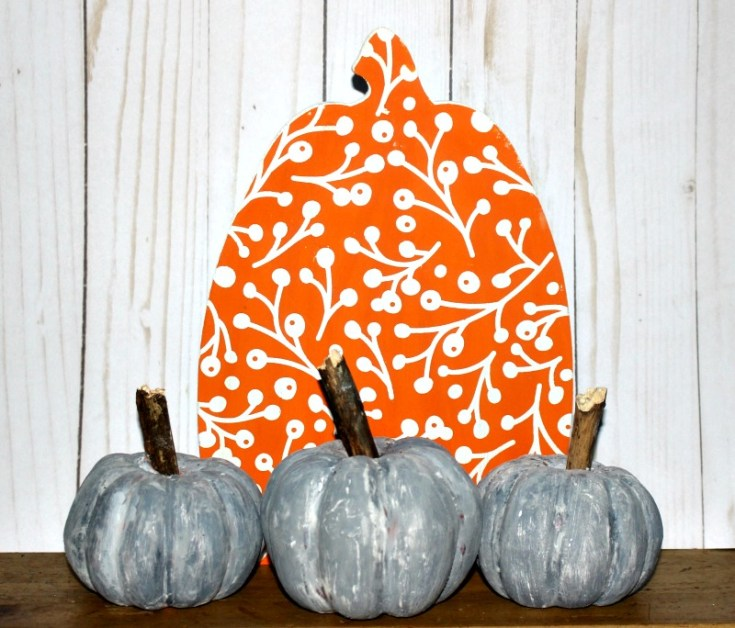 How To Make Faux Concrete Pumpkins With Dollar Store Supplies