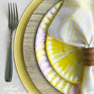 Lemon Tablescape For Two