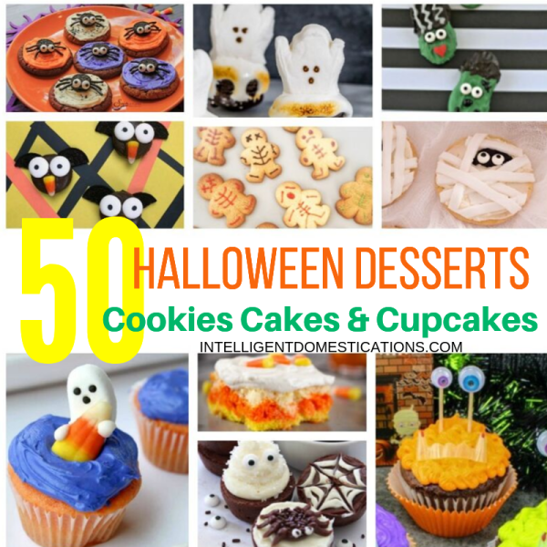 50 Halloween Desserts Frightfully delicious and fun to eat Cookies Cakes and Cupcakes. #halloween