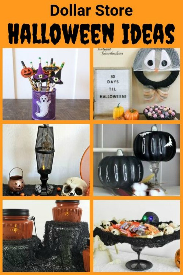Dollar Store Decor DIY projects anyone can make. #halloweendecor