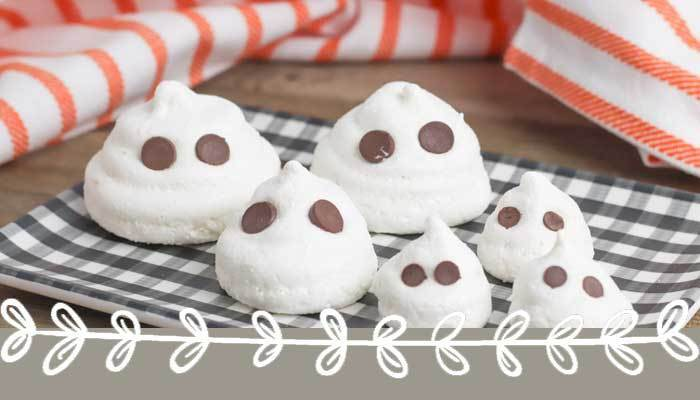 Meringue Ghosts: Gluten Free Halloween Cookies