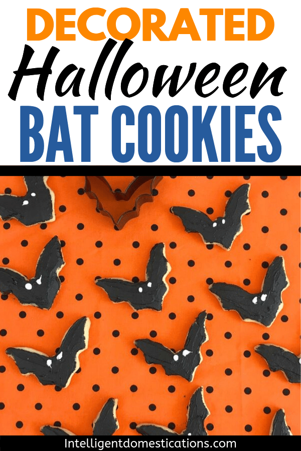 Halloween Bat Sugar Cookies are easy to decorate for your Halloween party. Let the kids do the decorating after you bake the cookies.