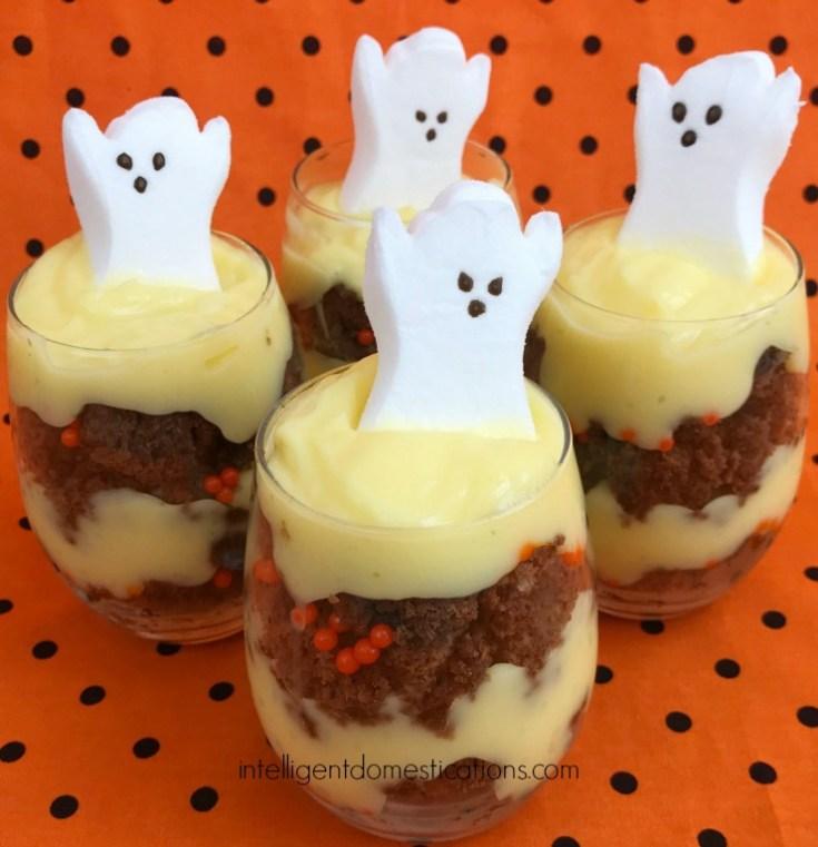 Halloween Brownie Parfait