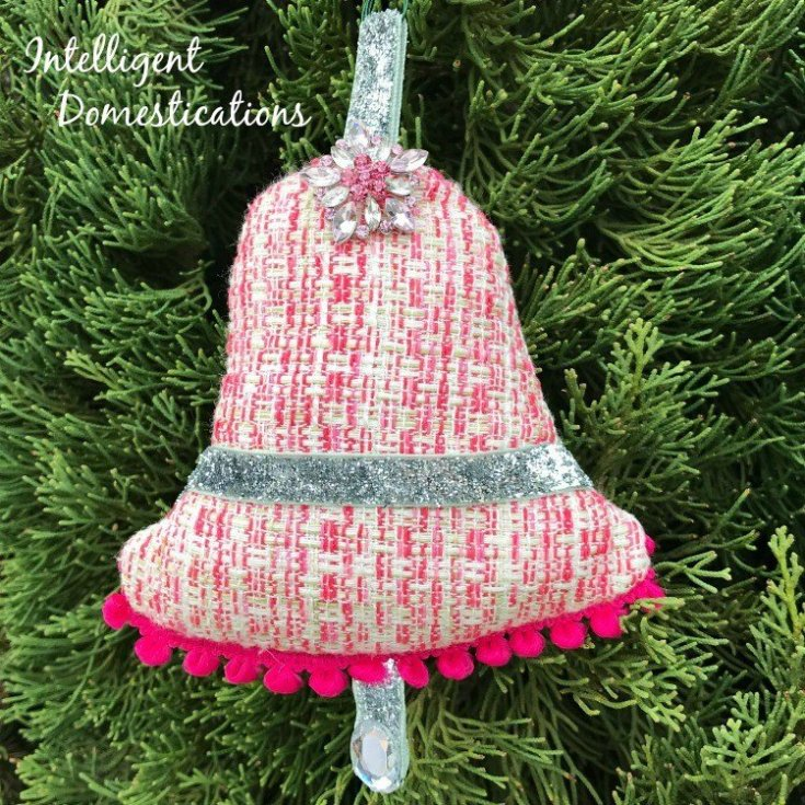 Sew Your Own Christmas Bell Ornament - Intelligent Domestications