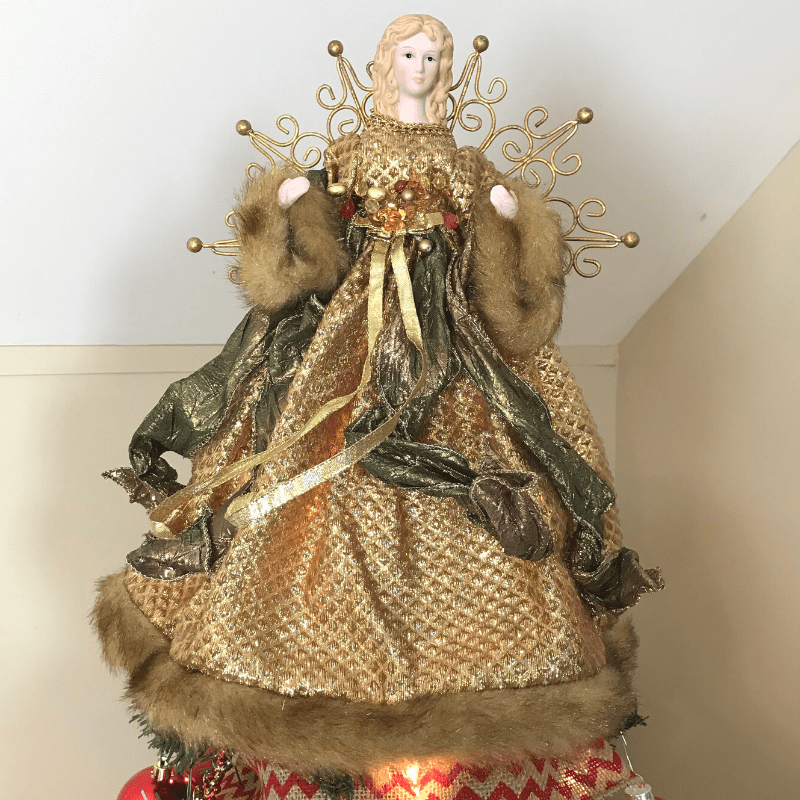 A traditional Angel Christmas Tree topper