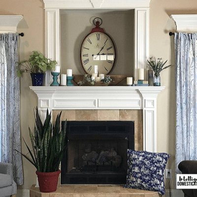Simple Spring Mantle Decor