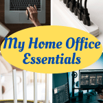 My list of essential home office electronic equipment and accessories, office furniture and things to make for a successful work from home space. #workfromhome #homeoffice #intellid