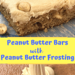 Peanut Butter Lovers enjoy this old fashioned recipe just like the lunch lady made in school. Peanut Butter Bars with Peanut Butter Frosting on top. We have added dry roasted peanuts to the mix and the frosting for an added bite of flavor. #peanutbutterdessert #intellid