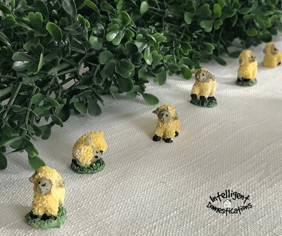 Resin Mini Lamb figures