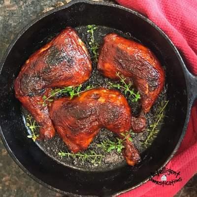 Baked BBQ Chicken Bone In