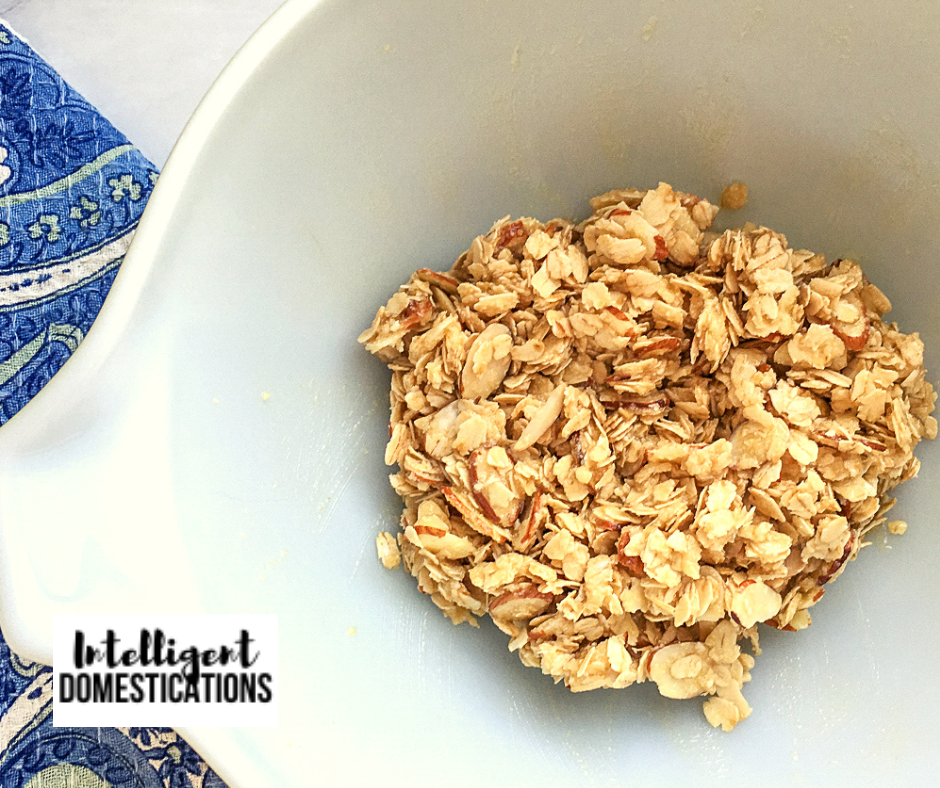 Oat topping in a bowl