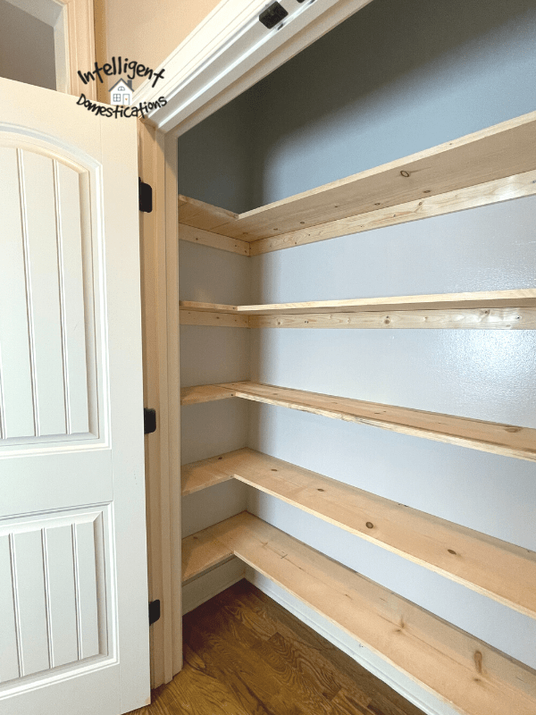 Finished shelving view of the left side