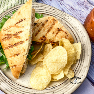 Easy Rotisserie Chicken &  Brie Sandwich with Savory Peach Spread