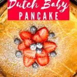 Berry Dutch Baby Pancake