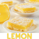 Lemon squares on small dishes