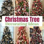 six decorated Christmas trees