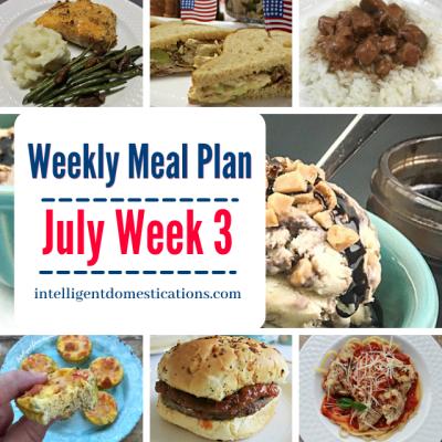 Week 3 July Meal Plan Shortcut Recipes