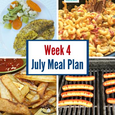 July Meal Plan Week 4
